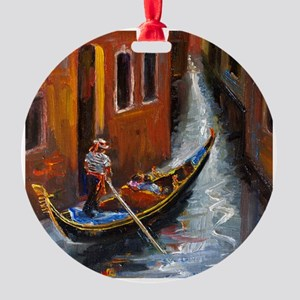 Gondola Ride at Venice Round Ornament